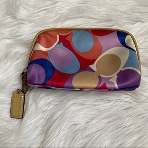 Coach colorful makeup/ cosmetic bag